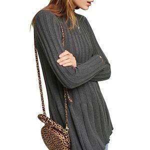 Anthropologi Thelma ribbed tunic dress sweater